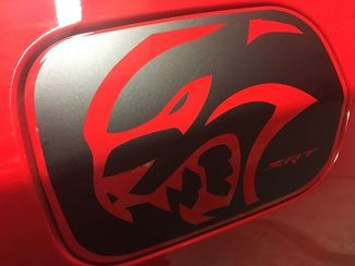 Dodge Charger HELLCAT SRT Gas Door Vinyl Overlay 2015+ Hemi Mopar decal sticker