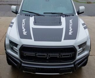 2017 FORD RAPTOR F-150 DUAL HOOD GRAPHIC VINYL STRIPE DECAL PREDATOR SVT RPH-003