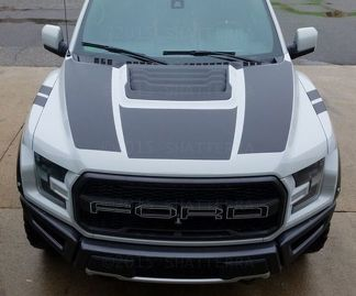 2017 FORD RAPTOR F-150 DUAL HOOD GRAPHIC VINYL STRIPE DECAL PREDATOR SVT RPH-002