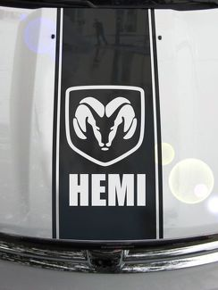 Ram Truck 1500 2500 3500 Hood Stripes Vinyl Decal Sticker Graphic DH-007B