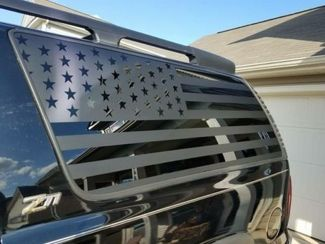 American Flag Decals Chevy Suburban - Stickers Vinyl GMC Denali Yukon Z71 XL