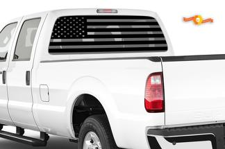 American Flag Decals Ford F250 - Stickers Vinyl Accessories Powerstroke 3rd Gen