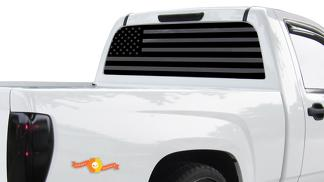 American Flag Banner For 94-04 Chevy S10 - Decals Vinyl Sticker Wrap Sonoma V8