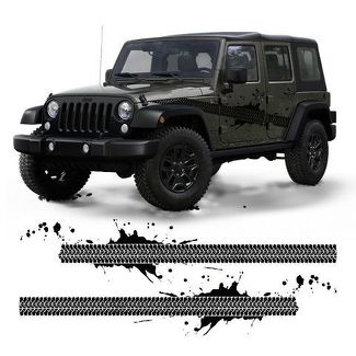 Jeep vinyl decal for wrangler , cherokee , patriot Tire thread design sticker