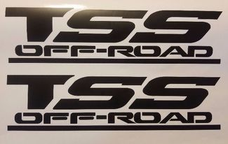 TSS OFF ROAD DECALS STICKERS, BLACK MATT SET