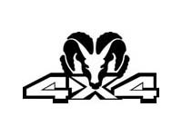 4x4 w/ Ram Jeep Decal Sticker