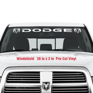 DODGE Windshield Vinyl Decal Sticker Graphic Decals Truck RAM Hemi Logo
