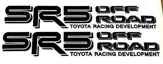 BLACK TOYOTA TRD SR5 OFF ROAD TRUCK 4x4 TOYOTA RACING TACOMA DECAL STICKER VINYL