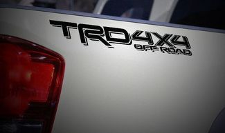 TRD 4x4 OFF ROAD Matte Black Toyota Tacoma 2016 Vinyl Decals Stickers