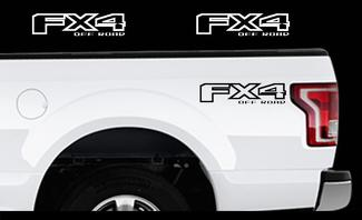 2015-2017 Ford F-150 Fx4 OFF ROAD Truck Bed Decal Set Vinyl Stickers