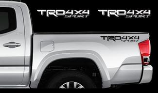 TRD 4x4 SPORT Decals Toyota Tacoma Racing Truck Bed Vinyl Stickers X2 16-17