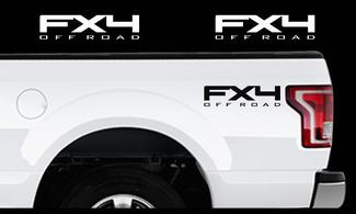 2009 - 2016 Ford F-150 Fx4 OFF ROAD Truck Bed Off Road Decal Set Vinyl Stickers