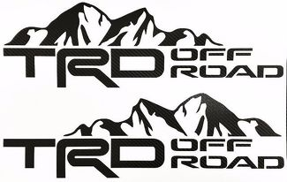Toyota TRD Mountain Off Road Tacoma Tundra Carbon Fiber Decals truck Stickers