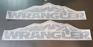 Jeep Wrangler mountain distressed Wrangler hood decals sticker