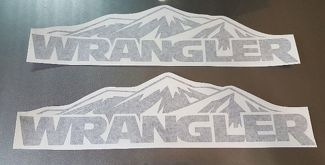 Jeep Wrangler mountain hood decal sticker