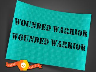 Jeep Wrangler wounded warrior style distressed military style hood decals