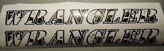 Jeep Wrangler Wrangler hood decals camo font any colors