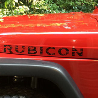 Jeep Wrangler Rubicon Oscar mike style distressed hood decals