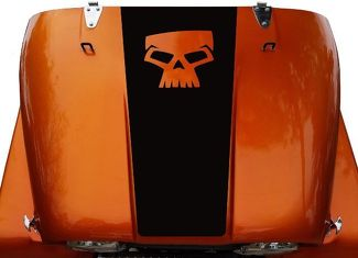 Skull Hood Blackout Vinyl Decal Sticker (17) fits: Jeep CJ 5, 6, 7, 8