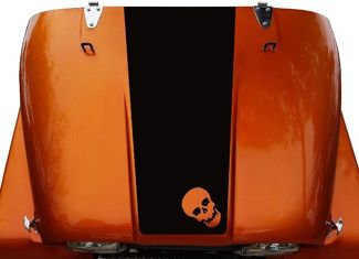 Skull Hood Blackout Vinyl Decal Sticker (20 Small) fit: Jeep CJ 5, 6, 7, 8