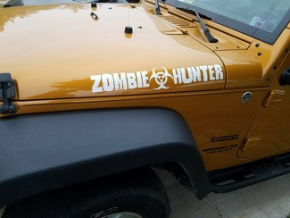 2X ZOMBIE HUNTER EDITION for JEEP Wrangler CJ TJ YK JK Hood Vinyl Sticker Decal