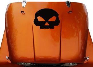 Skull Hood Vinyl Decal Sticker (21) fits: Jeep CJ 5, 6, 7, 8