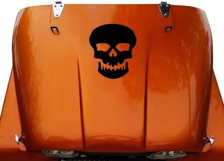 Skull Hood Vinyl Decal Sticker (20) fits: Jeep CJ 5, 6, 7, 8