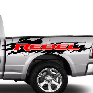 2 Color Dodge Ram Rebel Splash Grunge Logo Truck Vinyl Decal Graphic