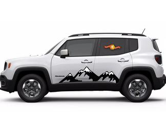 Vinyl Graphics Snow Mountain Car Sticke Hood Decal For Jeep Renegade Cherokee