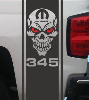 Dodge Ram Zweifarbige HEMI Heckbett Viny Decal Stripes Truck Graphics T-217