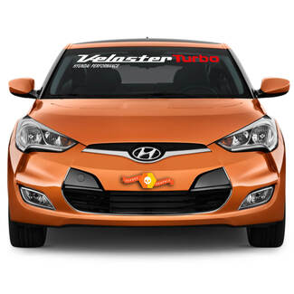 Windshield Decal Fits HYUNDAI Veloster Turbo 2011, 2012, 2013 to 2017