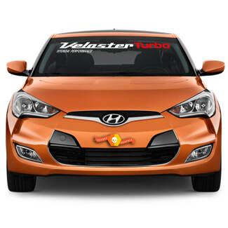 Windschutzscheiben-Aufkleber passend für HYUNDAI Veloster Turbo 2011, 2012, 2013 bis 2017