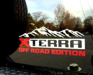 X TERRA XTERRA off road edition both side and tailgate mountains Decals Stickers Vinyl
