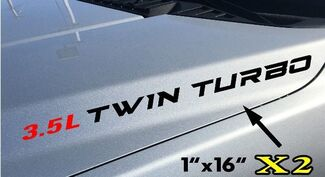 2x 3.5L Twin Turbo Hood sticker decals emblem Ford F150 Ecoboost V6