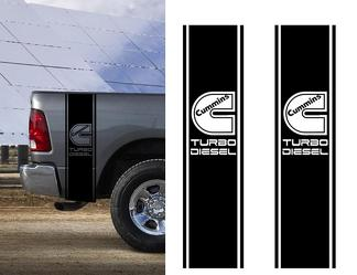 DECALS FOR Ram Truck CUMMINS TURBO DIESEL Bed 2 STRIPE KIT Vinyl Sticker