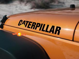 CATERPILLAR pair Jeep hood decal JK TJ НО vinyl decal sticker