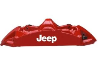 Jeep Brake Caliper High Temp Vinyl Decal Sticker (Any Color)