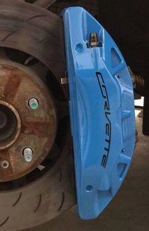 Corvette C7 gebogener Bremssattel Hochtemperatur-Vinyl-Aufkleber Aufkleber 6er-Set