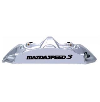 Mazdaspeed 3 Brake Caliper HIGH TEMP Vinyl Decal Stickers Set Of 6 (Any Color)