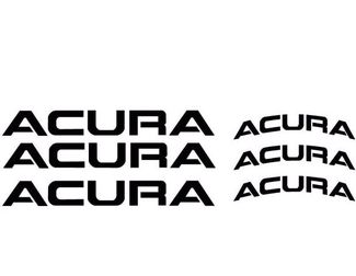 ACURA BRAKE CALIPER DECALS 6X