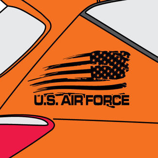 U.S. Air Force Distressed American Flag Graphic Vinyl Decal Sticker Side Nissan -