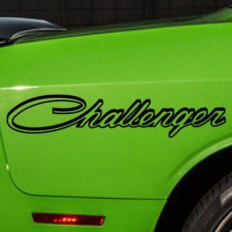 Dodge Challenger Logo Graphic Vinyl Decal Sticker Vehicle Car Reflective Options