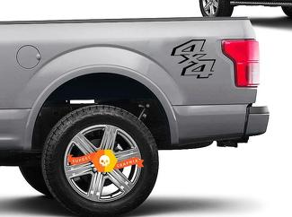 4x4 LKW-Ladefläche Aufkleber Ford Super Duty F250 F150 Vinyl Aufkleber