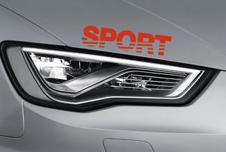 Sport Racing Aufkleber - Vinyl Aufkleber Auto Logo Haubenrock - passt Chevy Ford - SS21