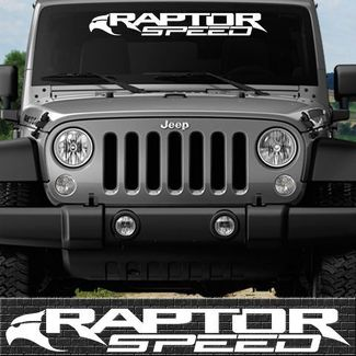 1 RAPTOR DECAL RACING SPEED VINYL DECALS #17 FITS FORD