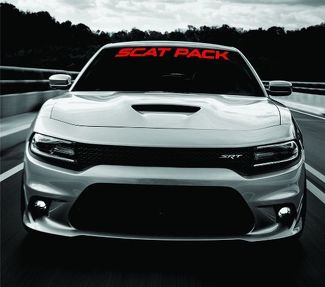 Dodge Charger SCAT PACK Windshield Banner Decal 2015-2018 SRT MOPAR 392