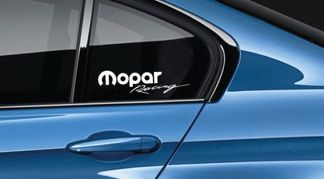 Mopar Racing Decal Sticker logo Mopar Dodge Racing HEMI Hellcat New USA Pair