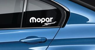 Mopar Sport Decal Sticker Mopar Racing Hellcat Ram Hemi SRT USA Pair