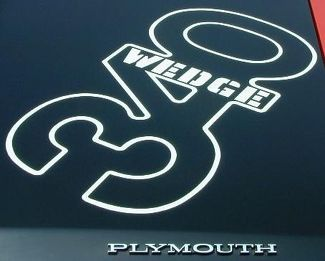 1971 Plymouth Duster 340 Wedge Hood Callout Tape Stripe Decal WHITE Mopar