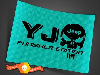 Truck Car Decal - pair XJ JEEP Punisher EDITION - Vinyl decal Outdoor vinyl